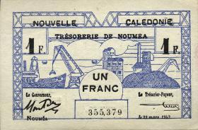 Neu Kaledonien / New Caledonia P.55 1 Franc 1943 (1)