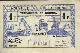 Neu Kaledonien / New Caledonia P.55 1 Franc 1943 (2)