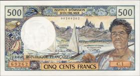 Neu Kaledonien / New Caledonia P.60a 500 Francs (1969-92) (1)