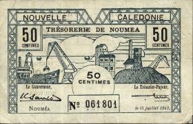 Neu Kaledonien / New Caledonia P.51 50 Centimes 1942 (3)