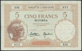 Neu Kaledonien / New Caledonia P.36b 5 Francs (1926) (3+)