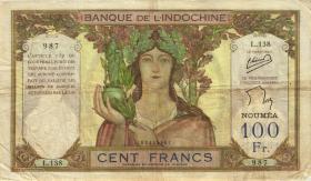 Neu Kaledonien / New Caledonia P.42e 100 Francs (1937-67) (4)