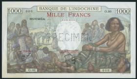 Neu Kaledonien / New Caledonia P.43s 1000 Francs (1940-65) (1)