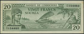 Neu Kaledonien / New Caledonia P.49 20 Francs (1944) (3+)
