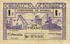 Neu Kaledonien / New Caledonia P.52 1 Franc 1942 (3)