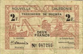 Neu Kaledonien / New Caledonia P.53 2 Francs 1942 (3)