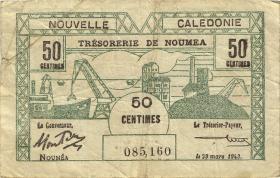 Neu Kaledonien / New Caledonia P.54 50 Centimes 1943 (3)