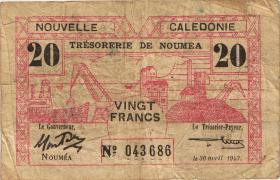 Neu Kaledonien / New Caledonia P.57 20 Francs 1943 (4)