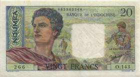 Neu Kaledonien / New Caledonia P.50c 20 Francs (1963) (3+)