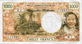 Neue Hebriden / New Hebrides  P.20c 1000 Francs (1985) (1)