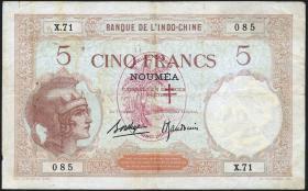 Neue Hebriden / New Hebrides P.04b 5 Francs (1941) (4)