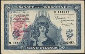 Neue Hebriden / New Hebrides P.05 5 Francs (1945) (3)