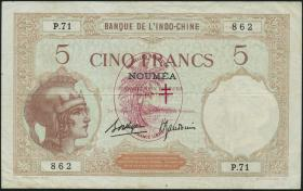 Neue Hebriden / New Hebrides P.04b 5 Francs (1941) (3)