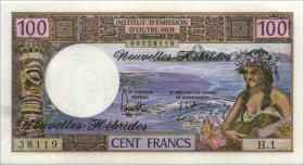 Neue Hebriden / New Hebrides  P.18c 100 Francs (1972) (1)