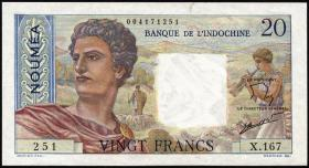 Neu Kaledonien / New Caledonia P.50c 20 Francs (1963) (1)