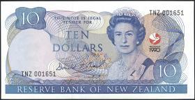 Neuseeland / New Zealand P.176 10 Dollars 1990 (1) Gedenkbanknote