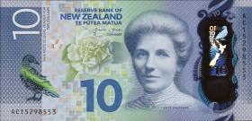 Neuseeland / New Zealand P.192 10 Dollars (2015) Polymer (1)