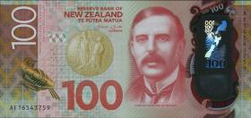 Neuseeland / New Zealand P.neu 100 Dollars 20(16) Polymer (1)