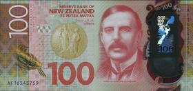 Neuseeland / New Zealand P.195 100 Dollars 20(16) Polymer (1)