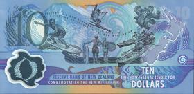 Neuseeland / New Zealand P.190a 10 Dollars (2000) Polymer (1)