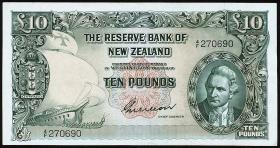 Neuseeland / New Zealand P.161b 10 Pounds (1955-56) (2)