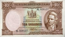 Neuseeland / New Zealand P.158d 10 Shillings (1960-67) (1)