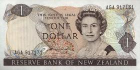 Neuseeland / New Zealand P.163d 1 Dollar (1977-81) (1)