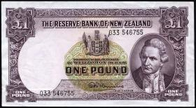 Neuseeland / New Zealand P.159d 1 Pound (1940-67) (1)