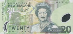 Neuseeland / New Zealand P.187a 20 Dollars (1999) Polymer (1)