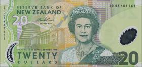 Neuseeland / New Zealand P.187b 20 Dollars (2005) Polymer (1)