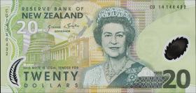 Neuseeland / New Zealand P.187c 20 Dollars (20)14 Polymer (1)