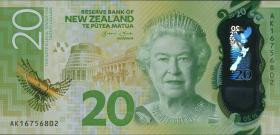 Neuseeland / New Zealand P.neu 20 Dollars 20(16) Polymer (1)