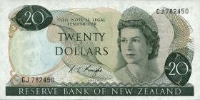 Neuseeland / New Zealand P.167c 20 Dollars (1975-77) (1)