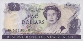 Neuseeland / New Zealand P.170a 2 Dollars (1981-85) (2)
