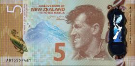 Neuseeland / New Zealand P.191 5 Dollars (2015) Polymer (1)