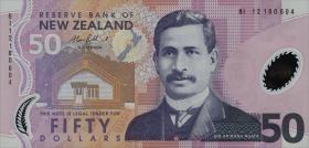 Neuseeland / New Zealand P.188c 50 Dollars (2012) Polymer (1)