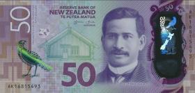 Neuseeland / New Zealand P.194 50 Dollars 20(16) Polymer (1)