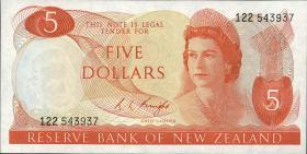 Neuseeland / New Zealand P.165c 5 Dollars (1975-77) (1)