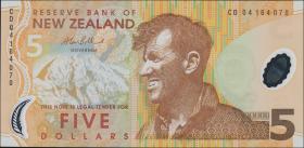 Neuseeland / New Zealand P.185b 5 Dollars 2004 Polymer (1)