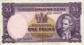 Neuseeland / New Zealand P.159d 1 Pound (1940-67) (2)