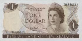 Neuseeland / New Zealand P.163a 1 Dollar (1967-68) (1)