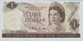 Neuseeland / New Zealand P.163b 1 Dollar (1968-75) (1)