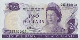 Neuseeland / New Zealand P.164a 2 Dollars (1967-68) (1)