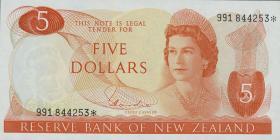 Neuseeland / New Zealand P.165d 5 Dollars (1967-81) (1)