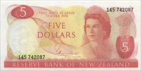 Neuseeland / New Zealand P.165d 5 Dollars (1957-81) (1)