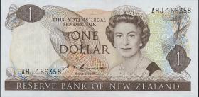 Neuseeland / New Zealand P.169b 1 Dollar (1985-89) (2)