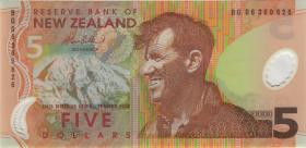 Neuseeland / New Zealand P.185b 5 Dollars (20)06 Polymer (1)