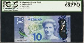 Neuseeland / New Zealand P.192 10 Dollars (2015) Polymer PCGS (1)