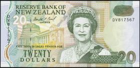 Neuseeland / New Zealand P.183 20 Dollars (1992) grünee Rückseite (1)