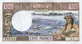 Neue Hebriden / New Hebrides  P.18d 100 Francs (1977) (1)